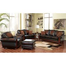 Top Grain Leather Living Room Set Bridgeville 4 Top Grain Leather Living Room Set