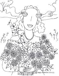 coloring u2026fred gonsowski u0027s drawings of the u201cbig eyed people