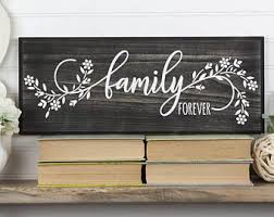 family forever wood sign with floral design 2 sizes 9 colors