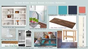 mixing blues in a beach house kitchen makeover u2013 home spun style
