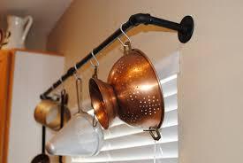 Kitchen Pot And Pan Storage Industrial Pot Rack Plumbing Pipe Industrial Decor Kitchen