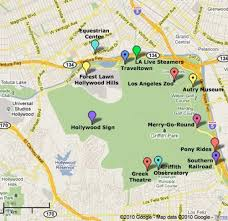 map of burbank ca griffith park los angeles griffith park los angeles and angeles