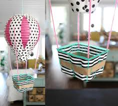How To Make Paper Air Balloon Lantern - diy air balloons paper mache and puppet