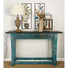 Distressed Sofa Table by Blue Sofa Tables Accent Tables The Home Depot