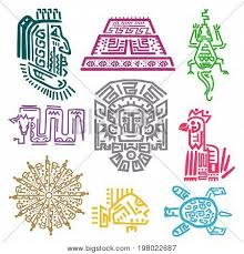 aztec symbols cultures vector photo bigstock