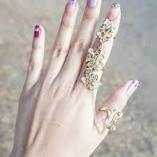 finger chain rings images Shop two finger ring on wanelo jpg