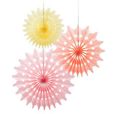tissue paper fans 3 sorbets mix tissue paper fan decorations pipii
