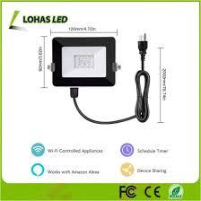 smart outdoor flood light china 10w 2m rgb led floodlight waterproof ip65 wifi smart outdoor