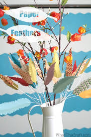 how to make paper feathers home decor tutorial whatthecraft