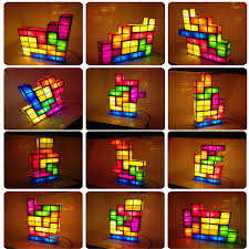 Diy Led Desk Lamp by Tetris Stackable Led Desk Lamp