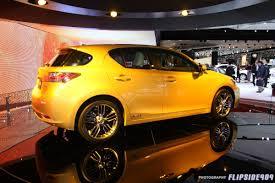 lexus ct200 yellow 1 10 11 detroit auto show u002711 ct 200h clublexus lexus