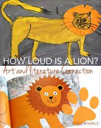 how to draw a lion collage art project deep space sparkle