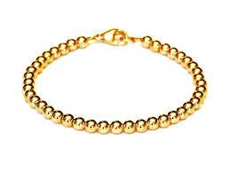 gold beads bracelet images Heavy 14k gold bead bracelet women and men 39 s bracelet 4mm 7g jpg