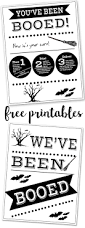 you u0027ve been booed free printable signs paper trail design