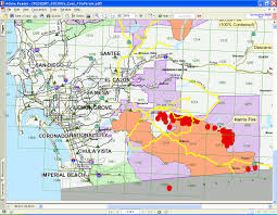 Wildfire Map Evacuation Updates Maps And Info San Diego Wildfire 2007