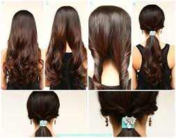 quick and easy hairstyles for long hair to do at home quick