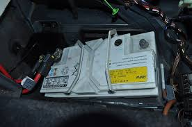 bmw 520i battery location pictorial discussion of charging testing removing replacing