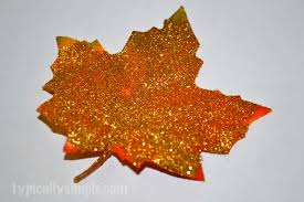 glittered fall leaves diy typically simple