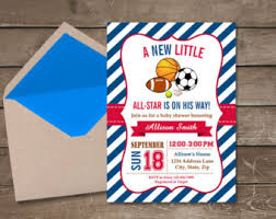all baby shower all sports baby shower invitation