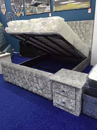 crushed velvet ottoman bed gas lift storage bed in multiple