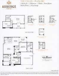 55 new homes auberge at del sur villas floor plans