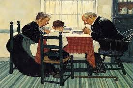 family grace pray print by norman rockwell icanvas