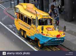 amphibious vehicle london duck tours amphibious vehicle parked at waterloo stock
