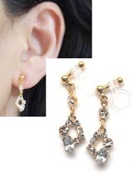 how to make clip on earrings comfortable look like pierced 2 ways invisible clip on earrings by miyabigrace