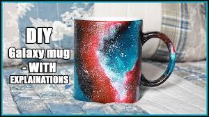 diy galaxy mug painting with explainations youtube