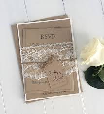 rustic wedding invitation kits rustic wedding invitation kit eco kraft and rustic lace