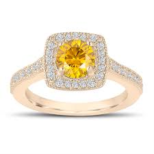 fancy yellow diamond engagement rings 1 29 carat canary yellow diamond engagement ring wedding ring 14k