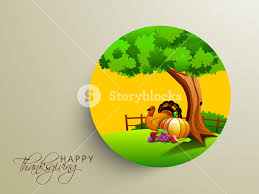 happy thanksgiving day concept with beautiful nature view with
