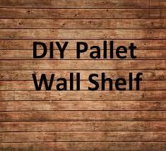 diy pallet shelf youtube
