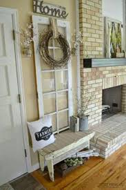 living room decor rustic farmhouse style with painted white