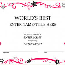 free certificate template awards certificates templates for word