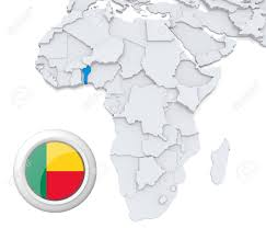 Benin Flag 3d Modeled Map Of Africa With Highlighted State Of Benin With