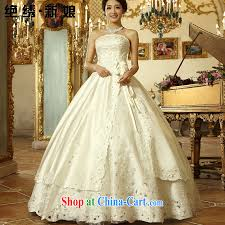 wedding dress version is embroidery bridal 2015 new korean version princess lace white