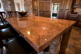 granite countertop metal cabinet doors kitchen island backsplash
