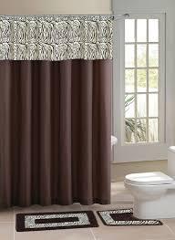 brown zebra bathroom set 22pc bath accessories set black zebra