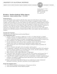 Resume Sample Student by Sample Student Affairs Resume Resume For Your Job Application
