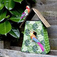 tropical fabric birdhouse decoration hometalk