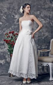 lace tea length wedding dress mid length wedding dresses
