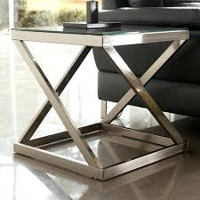 metal end table legs metal end tables with glass top foter metal end table buy table legs