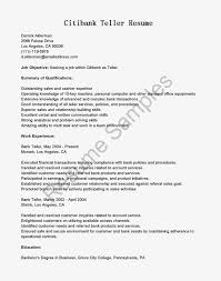 Resume For Bank Teller Job With No Experience  sample resumes for     happytom co