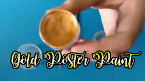 how to make gold calligraphy ink with poster paint youtube