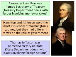 who was in washington s cabinet essential question what important events defined the george