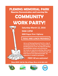 streamside native plants upcoming events fleming memorial park community work party