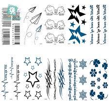 tattoo decal paper buy rocooart hc76 100 waterproof fake tattoo stickers paper airplane