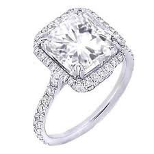 radiant cut halo engagement rings 2 58 ct exquisite u pave radiant cut halo engagement ring
