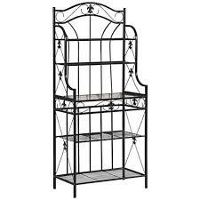 Metal Bakers Rack Stanfeld Black Metal Fleur De Lis 4 Shelf Baker U0027s Rack 9v627